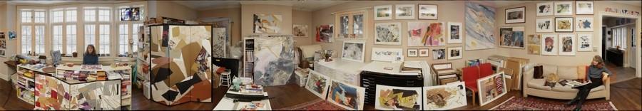 Elizabeth Ginsberg in her Studio