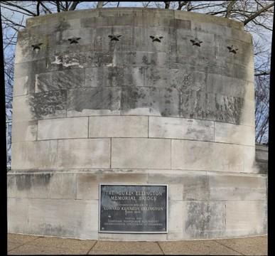 Indiana limestone at the Duke Ellington Bridge, D.C.