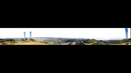 giga pano of san francisco from twin peaks 360