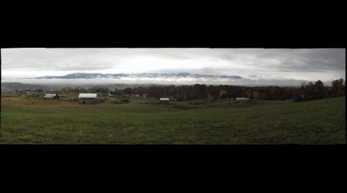 cloudy day at the farm