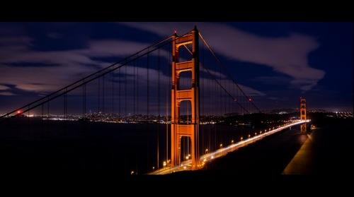 Golden Gate Bridge at Midnight
