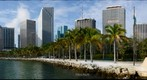 Miami's Bayfront Park with downtown Miami in the background