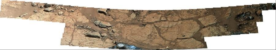 MSL Curiosity Mastcam 100 near field panorama of Yellowknife Bay area, Gale Crater - Mars