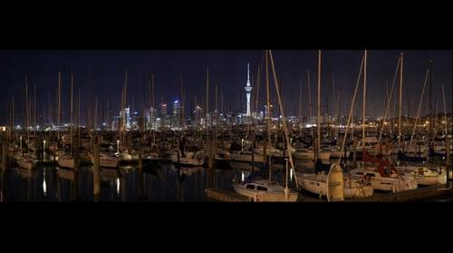 Westhaven Marina, Auckland by night