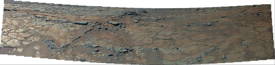 MSL Curiosity Mastcam 100 near-medium field panorama of Yellowknife Bay Area - Morning of Sol 137-141