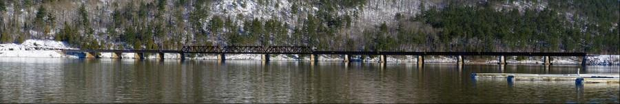 Ottawa River railroad bridge at Mattawa
