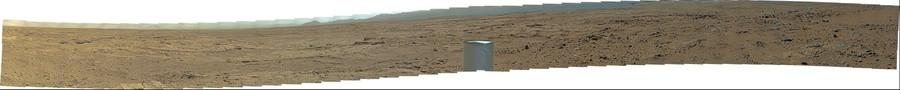"MSL Curiosity Mastcam 100 medium-far field ""Rocknest"" panorama  of MSL looking east Sol 64/66 morning"