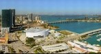 Miami looking Northeast from the top of the Vizcayne Miami Condo on N.E. 3rd Street