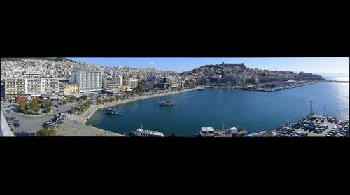 Kavala Panorama - Port - Artware.gr
