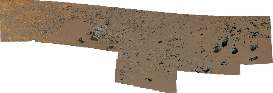 MSL Curiosity @ Rocknest field site - near-medium field