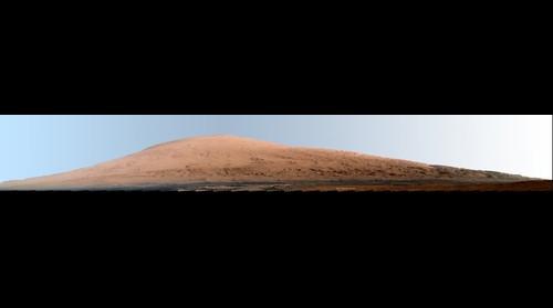 Mount Sharp Panorama in White-Balanced Colors