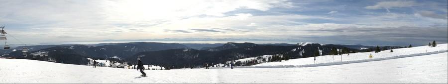 vue sur les Alpes, Feldberg, 06.03.2013