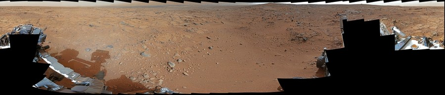 MSL Curiosity ~ Sol 106 360° medium-far field Panorama