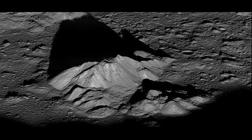 Moon Tycho Central Peak - credit to NASA/GSFC/Arizona State University