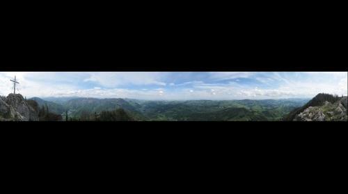 View from Steinerner Jaeger (1185m), Upper Austria, Austria