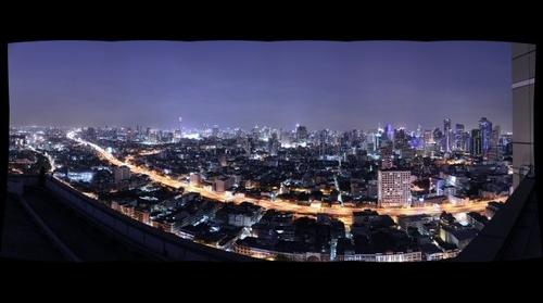 Bangkok Night Panorama 2
