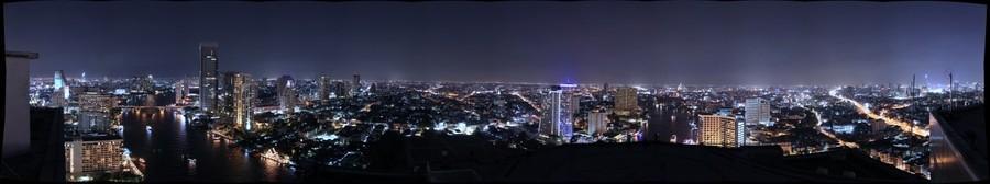 Western Bangkok at Night