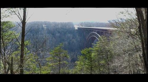 New River Gorge Bridge in March