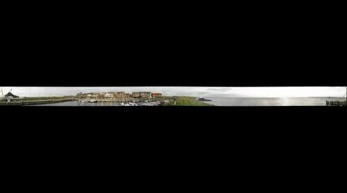 The old harbor of Ouddorp in 360 degree on 20-11-2008