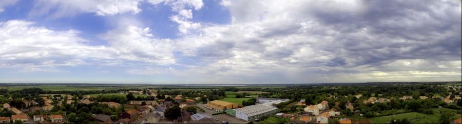 point de vue depuis clocher St Lumine de Coutais