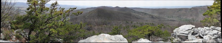 View SSW from Duncan Knob, George Washington National Forest, Virginia
