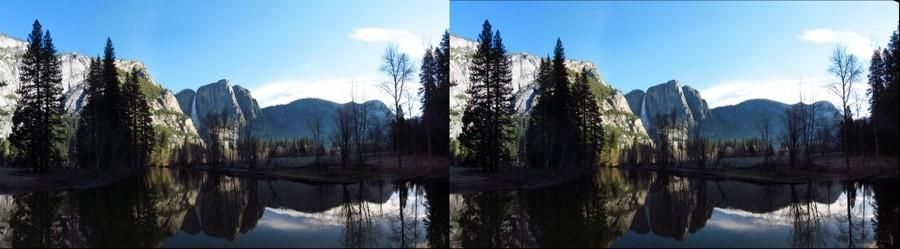 Yosemite Falls Morning stereophoto