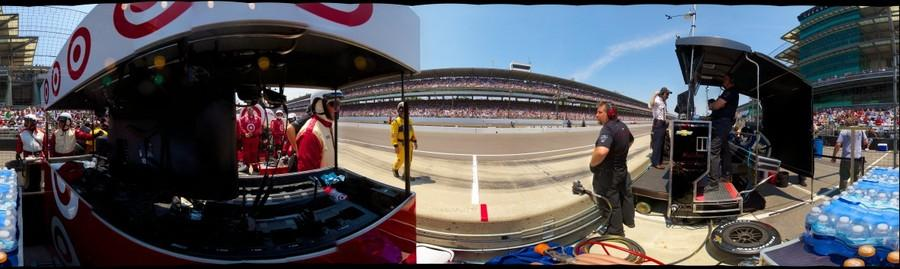 Indy 500 from the Dragon Racing Pit