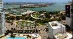 Miami's Bayfront Park, Bayside and Port of Miami as seen from the Vizcayne Condo South Tower
