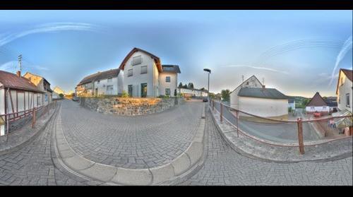 Rodenberg - Panroama Ecke HoheStr./Am Brunnen