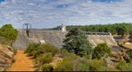 Mundaring Weir, Western Australia: Side view from Access Lane, Jan 4, 2012 (HDR Fusion)
