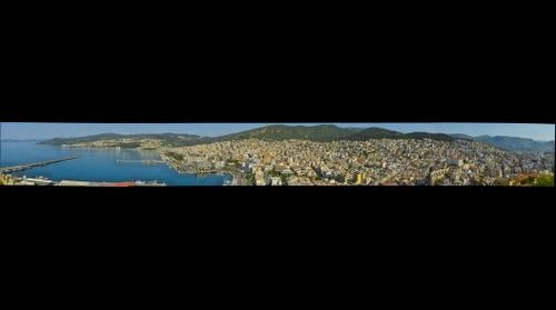 Kavala panoramic view from above the Castle