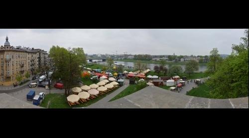 Kraków - Panorama znad Wisły