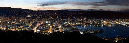 Night time from Mt Victoria wellington