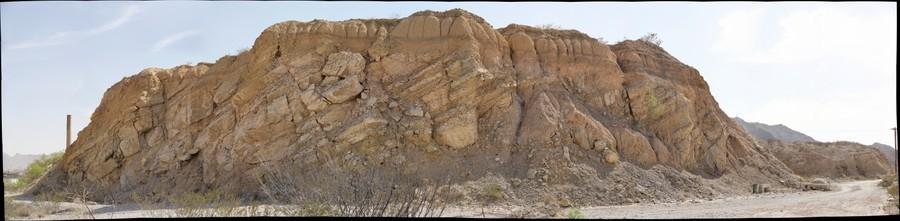 Angular Unconformity, west of El Paso, Texas