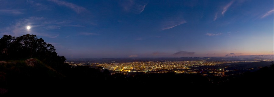 Mogi das Cruzes vista do Pico do Urubu