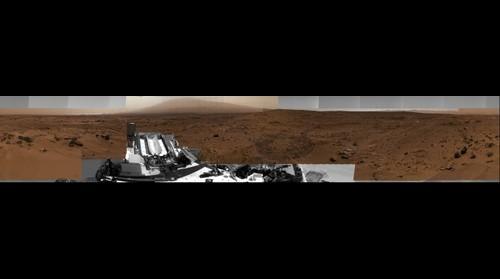 Curiosity's Billion Pixel Panorama - White Balanced