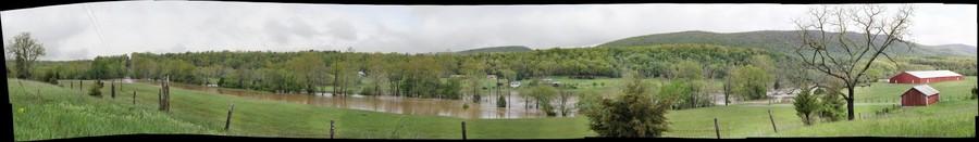 Passage Creek in flood