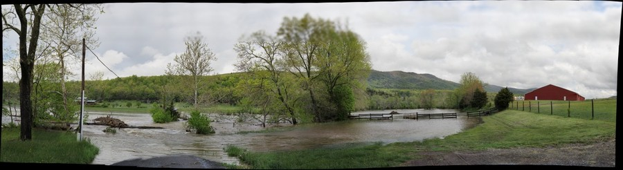 Passage Creek in flood