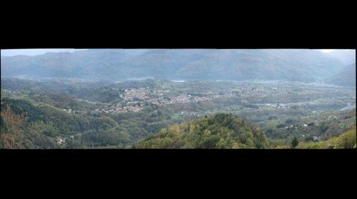 View of Barga & Serchio Valley from Sommocolonia