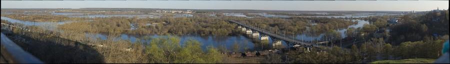Разлив реки Клязьма под Владимиром