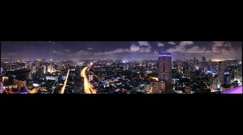 N and E Bangkok at Night