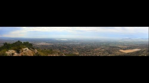 panoramica desde el campana-sierra crevillent (España)
