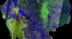 Cambodia EnVISAT ASAR Radar Satellite Image (scenes date from March 2012)