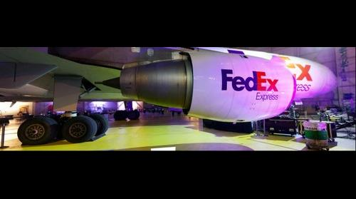 Engine and Landing Gear from a FedEx Plane