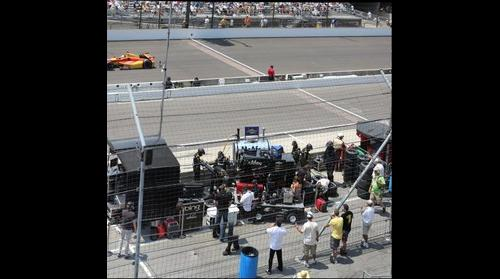 2012 Indy 500 Dragon Racing Pit from Stands