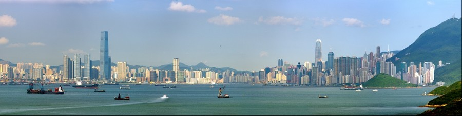 Hong Kong Skyline from Discovery Bay