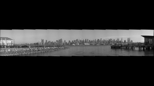 New York City from Port Imperial, Weehawkin, NJ (B&W)