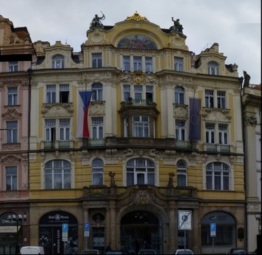 GP136 Building in Prague Square
