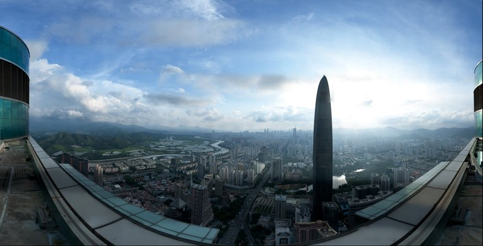 Futian - a half of Shenzhen city,China