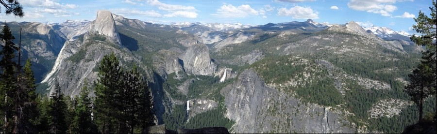 Half Dome, Nevada Falls, and Vernal Falls. Yosemite LEFT image